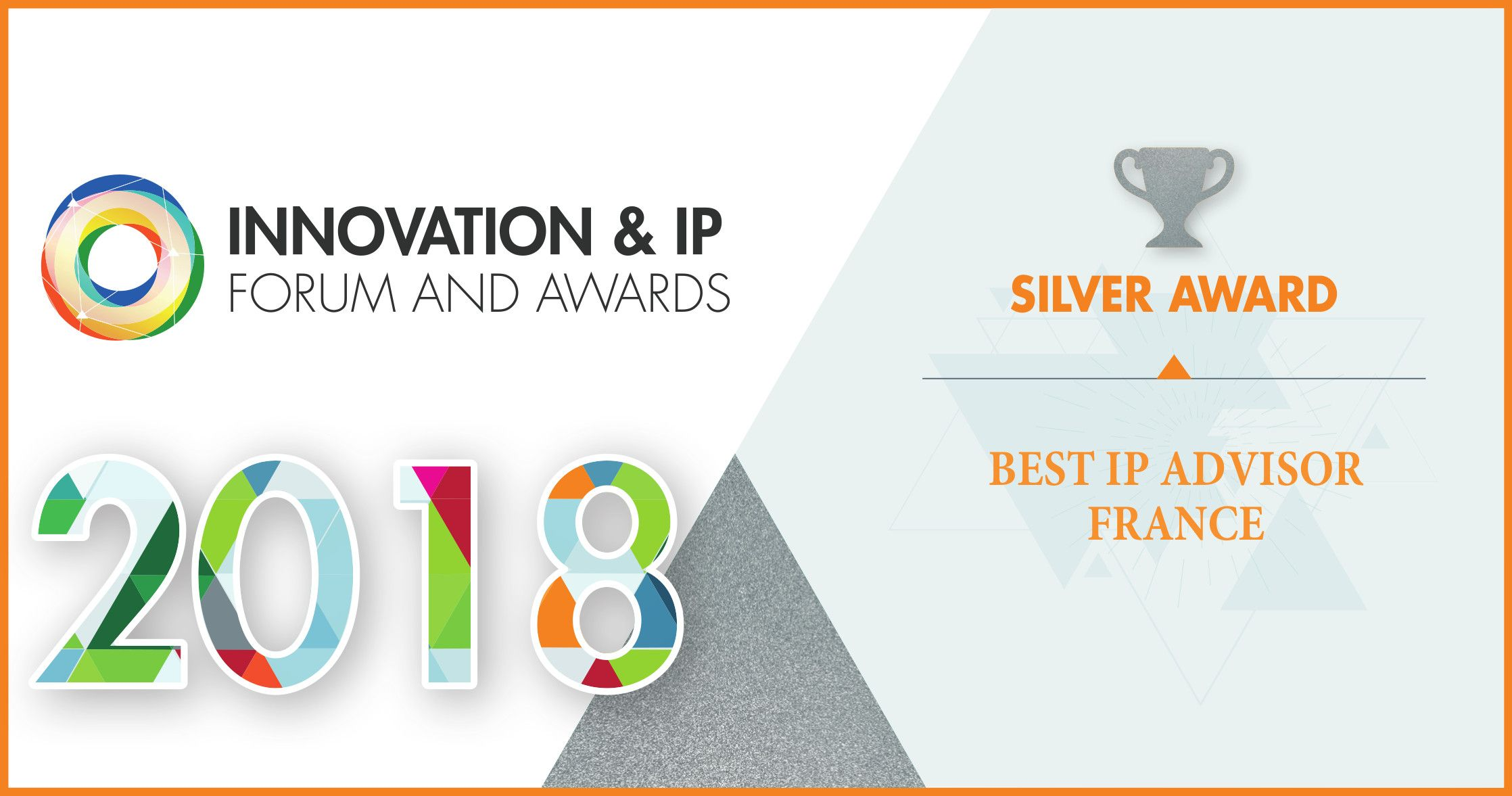 IPSIDE Silver Award Best IP Advisor France 2018